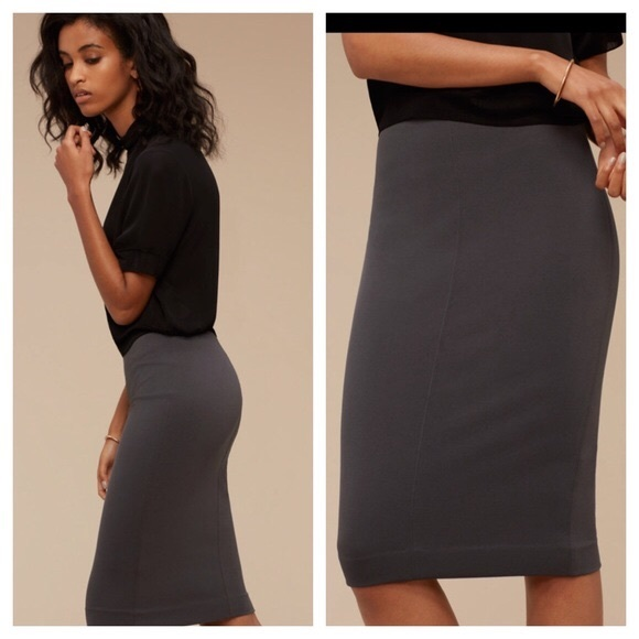 NWOT ARITZIA Wilfred Lis Pencil Skirt OLIVE XS